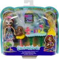 Wholesalers of Enchantimals Slow-down Salon & Sela Sloth Doll toys image