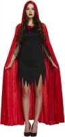 Wholesalers of Fancy Dress Adult Cape With Hood Red Velvet toys image