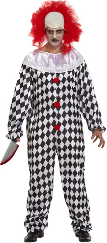 Wholesalers of Fancy Dress Adult Scary Clown With Wig toys