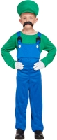 Wholesalers of Fancy Dress Child Super Workman Green Large 10-12yrs toys image