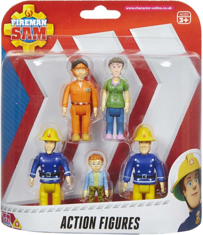 Wholesalers of Fireman Sam Action Figures 5-pack toys