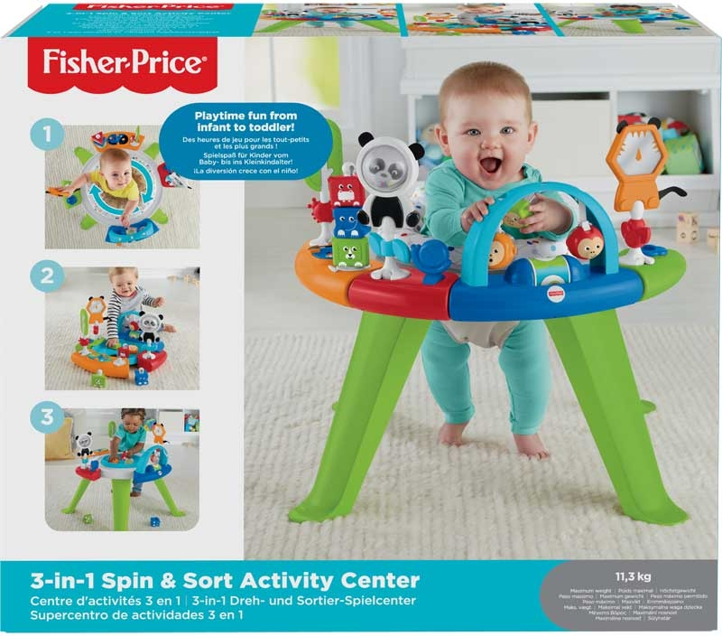 Wholesalers of Fisher-price 3-in-1 Spin & Sort Activity Centre toys