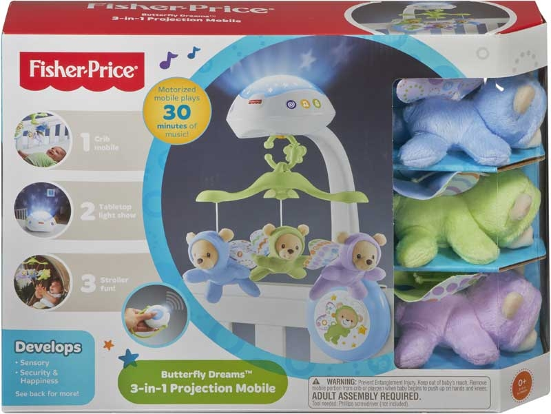 Wholesalers of Fisher-price Butterfly Dreams 3-in-1 Projection Mobile toys