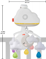 Wholesalers of Fisher Price Calming Clouds Mobile toys image 4