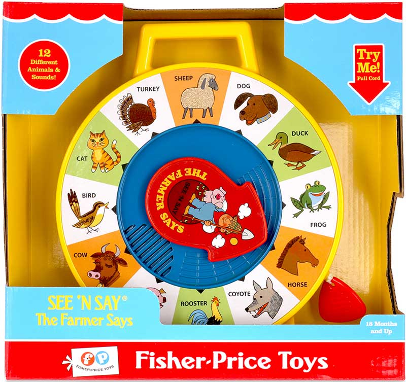 Wholesalers of Fisher Price Classic See N Say Farmer Says toys