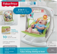Wholesalers of Fisher-price Rainforest Friends Take-along Swing & Seat toys Tmb