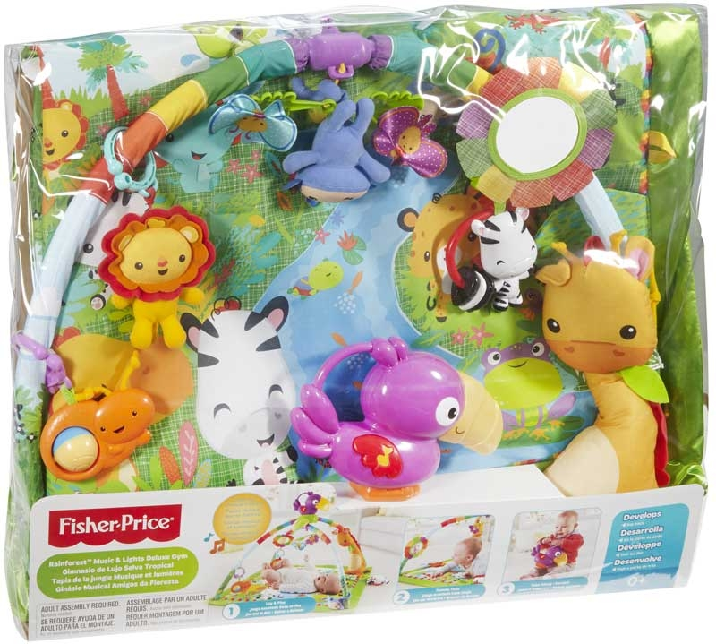 Wholesalers of Fisher-price Rainforest Music & Lights Deluxe Gym toys