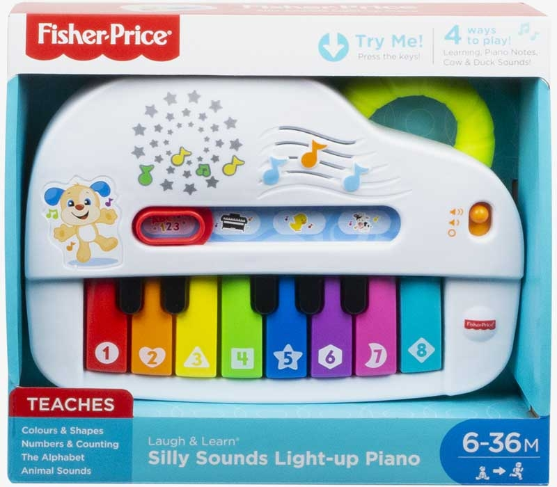Wholesalers of Fisher Price Silly Sounds Light-up Piano toys