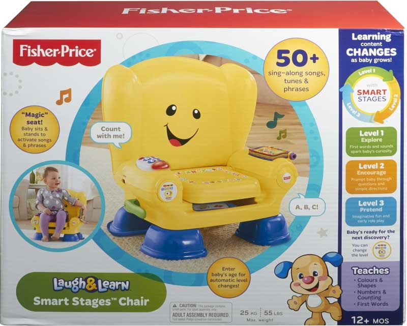Wholesalers of Fisher Price Smart Stages Chair Yellow toys