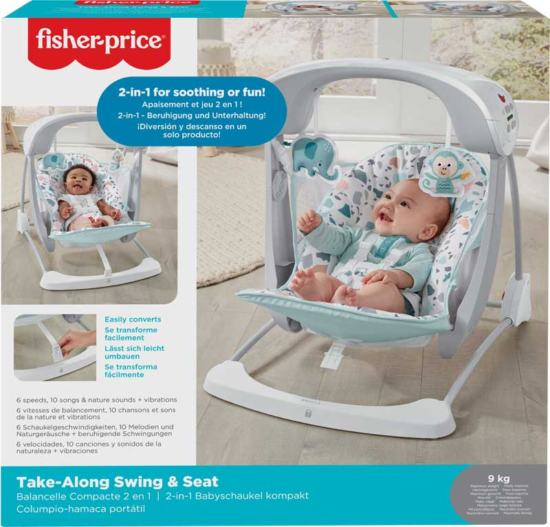 Wholesalers of Fisher-price Terrazzo Tale Along Swing & Seat toys