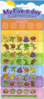 Wholesalers of Five A Day! Large Reward Stickers toys image