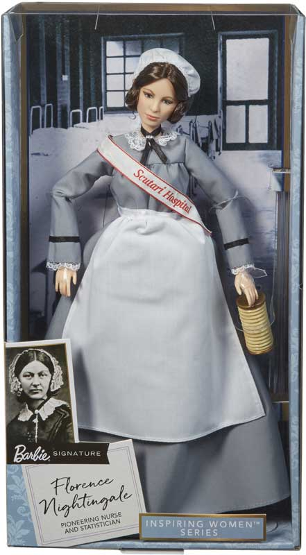 Wholesalers of Florence Nightingale Barbie Inspiring Women Doll toys