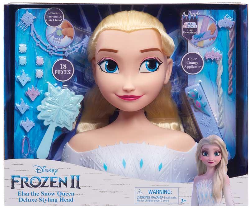 Wholesalers of Frozen 2 Deluxe Elsa Styling Head toys