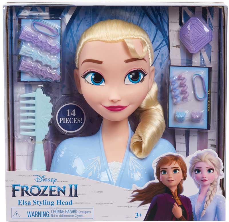 Wholesalers of Frozen 2 Elsa Styling Head toys