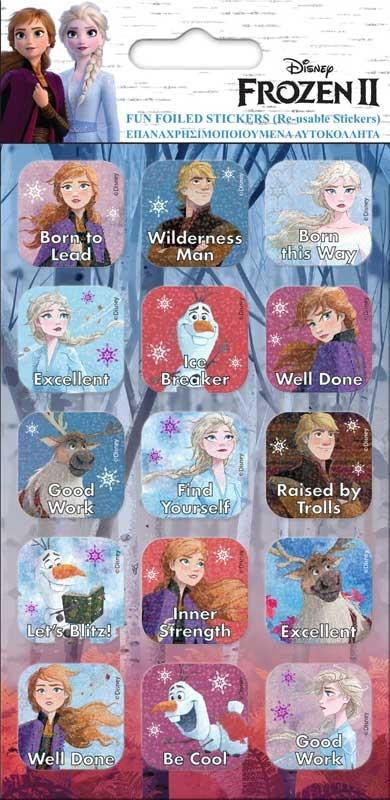 Wholesalers of Frozen 2 Foil Caption Stickers toys