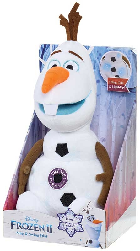 Wholesalers of Frozen 2 Sing And Swing Olaf Plush toys