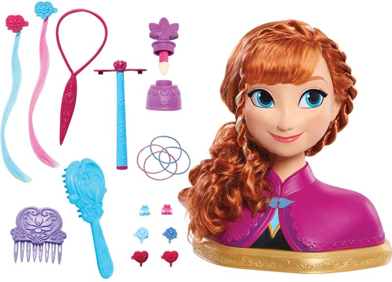 Wholesalers of Frozen Deluxe Anna Styling Head toys