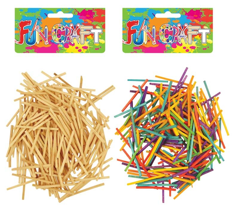 Wholesalers of Fun Craft - Match Sticks 5cm 2 Asst toys