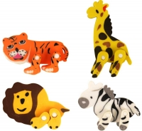 Wholesalers of Fun Stationery - Eraser Jungle 5.5cm X 4.5cm 4 Asst toys image
