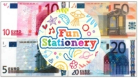 Wholesalers of Fun Stationery - Euro Notes Eraser toys image