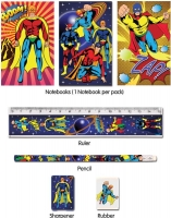 Wholesalers of Fun Stationery - Super Hero Stationery Set 5 Piece toys image