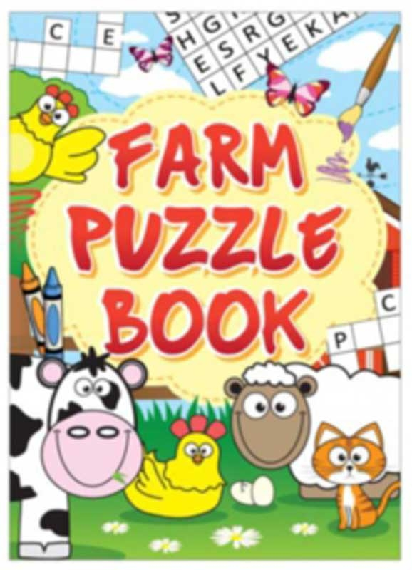 Wholesalers of Fun Stationery Book Fun Farm Puzzle 10.5cm X 14.5cm toys
