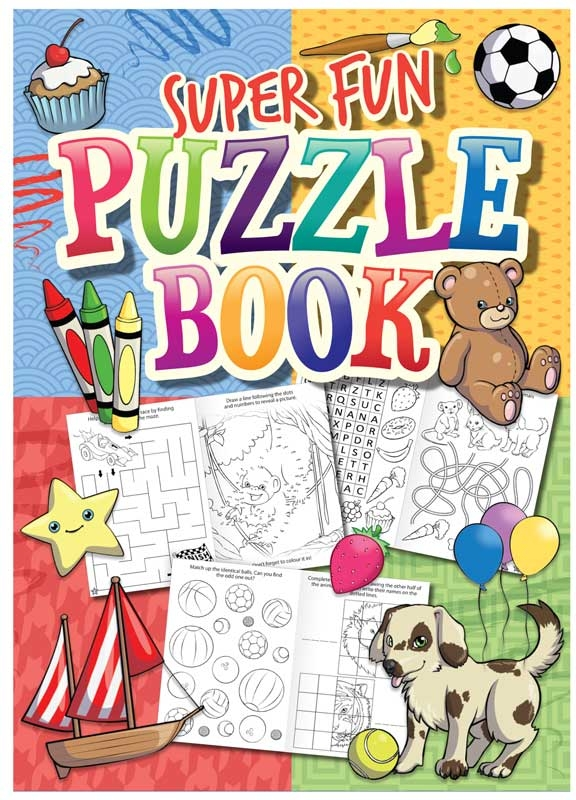 Wholesalers of Fun Stationery Book Fun Puzzle 10.5cm X 14.5cm toys