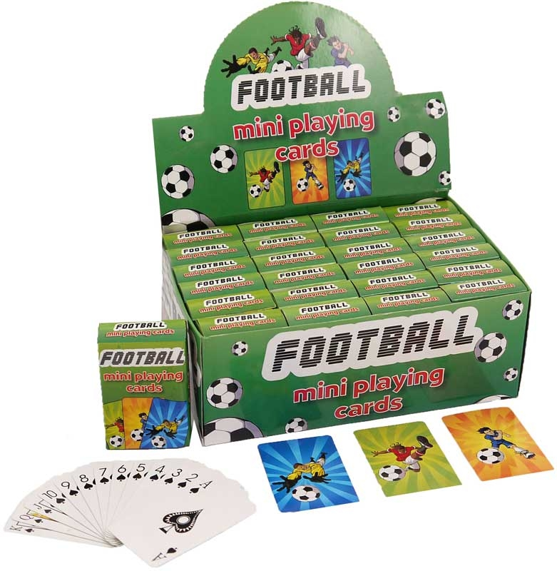 Wholesalers of Football Mini Playing Cards toys