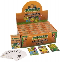 Wholesalers of Fun Stationery Cards Playing Mini Jungle 6 X 4cm 3 Asst toys image
