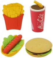 Wholesalers of Fun Stationery Eraser Fast Food Meals 3.5 - 4.5 Cm 4 Asst toys image