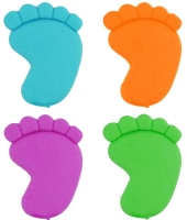 Wholesalers of Fun Stationery Eraser Foot 5cm 4 Asst Cols toys image