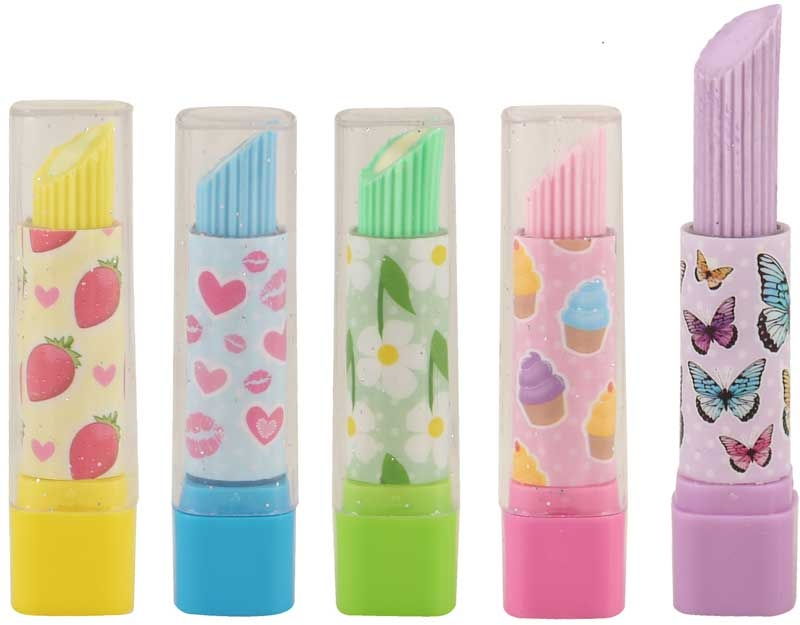 Wholesalers of Fun Stationery Eraser Lipstick 7 Cm 5 Asst Cols toys