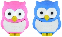 Wholesalers of Fun Stationery Eraser Owl 3.5 X3cm Asst Colours toys image
