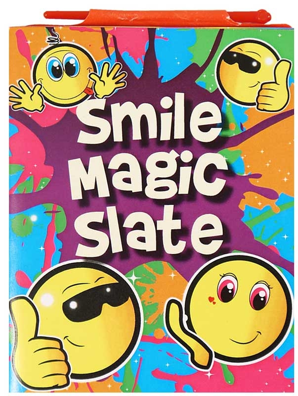Wholesalers of Fun Stationery Magic Slate Smile Face 11cm X 7.5cm toys