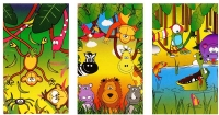Wholesalers of Fun Stationery Notebook Jungle 9.3cm X 5.5cm 3 Asst toys image