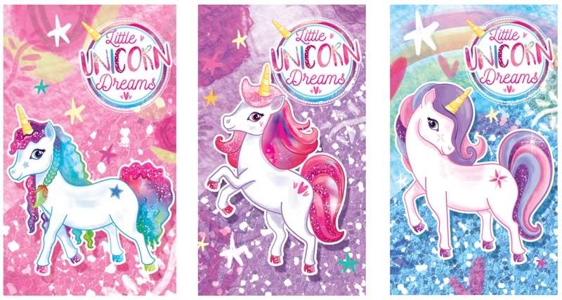 Wholesalers of Fun Stationery Notebook Unicorn 9.3cm X 5.5cm 3 Asst toys