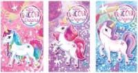 Wholesalers of Fun Stationery Notebook Unicorn 9.3cm X 5.5cm 3 Asst toys image