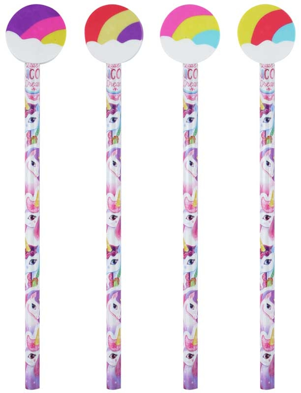 Wholesalers of Fun Stationery Pencil Witheraser Top Unicorn toys