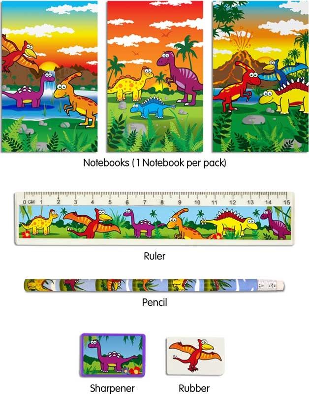 Wholesalers of Fun Stationery Stationery Set 5 Pc Dinosaur toys