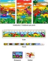Wholesalers of Fun Stationery Stationery Set 5 Pc Dinosaur toys image