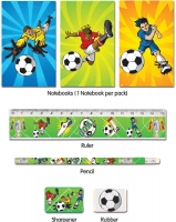 Wholesalers of Fun Stationery Stationery Set 5 Pc Football toys image