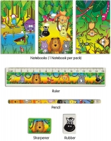 Wholesalers of Fun Stationery Stationery Set 5 Pc Jungle toys image