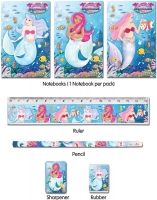 Wholesalers of Fun Stationery Stationery Set 5 Pc Mermaids toys image
