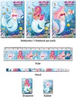 Wholesalers of Fun Stationery Stationery Set 5 Pc Mermaids toys image