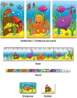 Wholesalers of Fun Stationery Stationery Set 5 Pc Sealife toys image