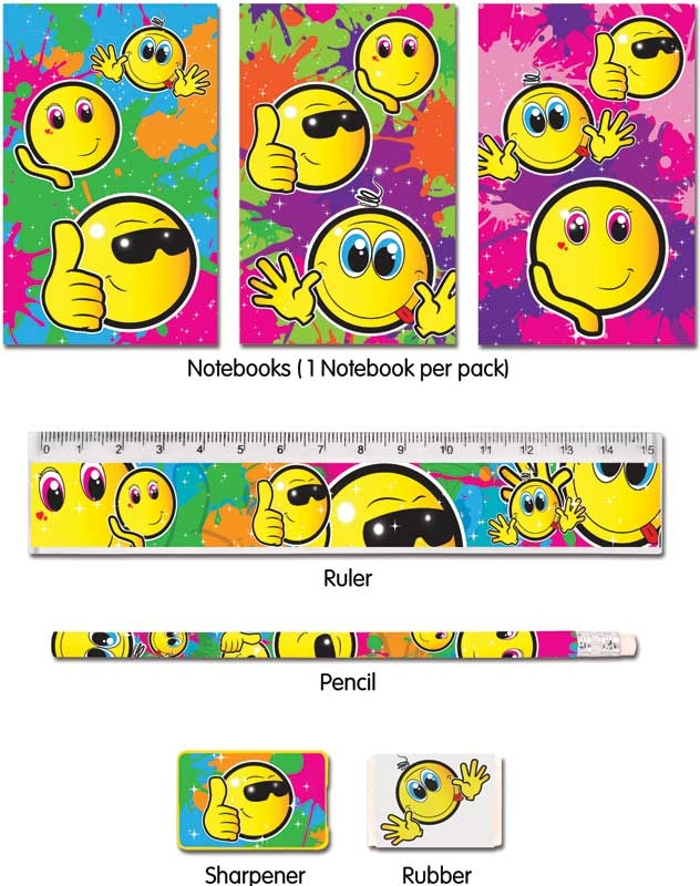 Wholesalers of Fun Stationery Stationery Set 5 Pc Smile toys