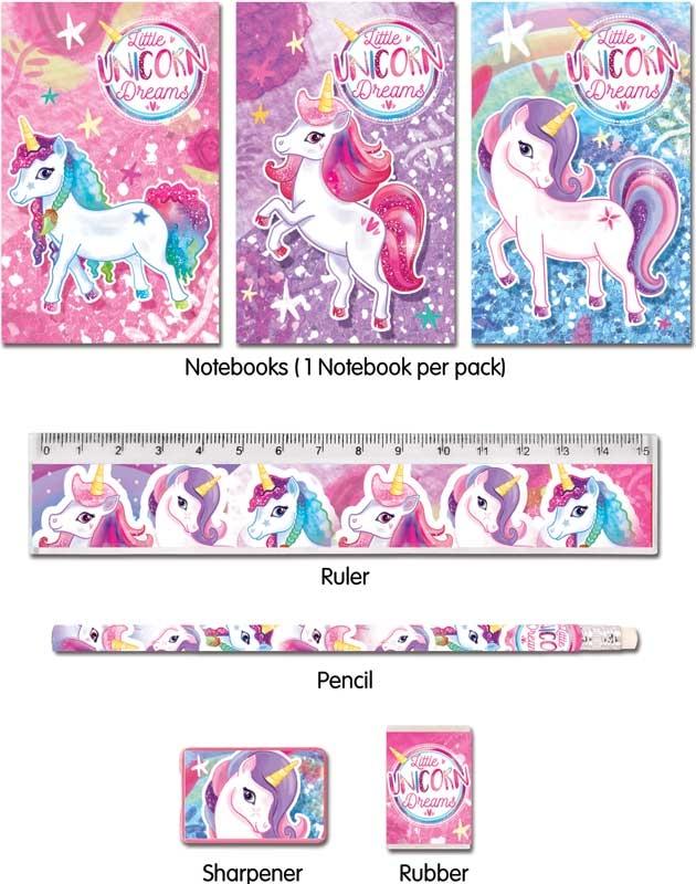 Wholesalers of Fun Stationery Stationery Set 5 Pc Unicorn toys