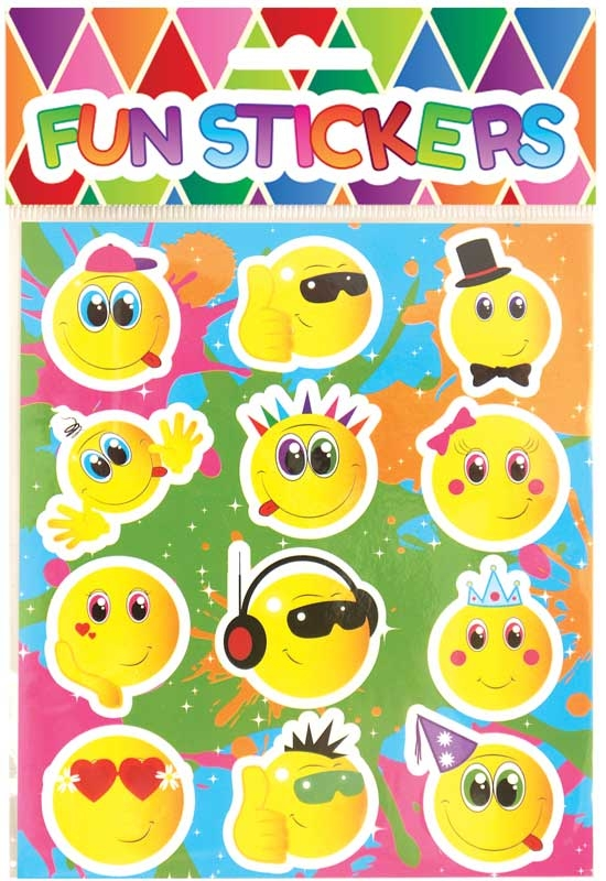 Wholesalers of Fun Stickers - Smiley Face Stickers toys