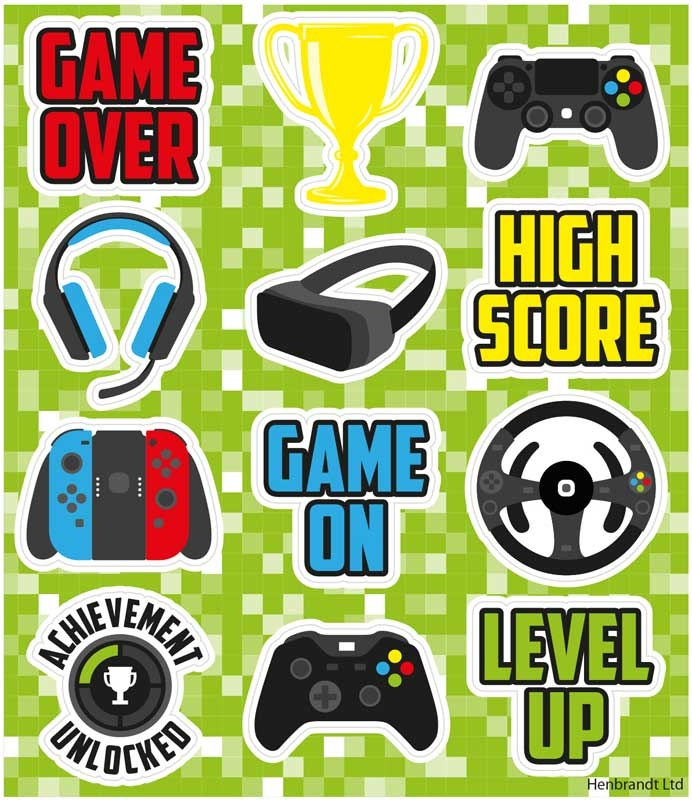 Wholesalers of Fun Stickers Gamer Stickers toys