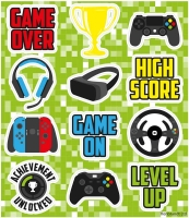 Wholesalers of Fun Stickers Gamer Stickers toys image